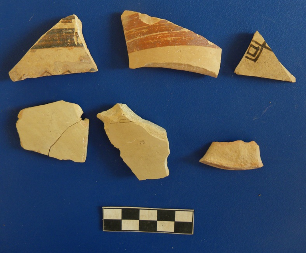 Fig. 19-Fragments of Late Helladic IIIB vessels from Laona