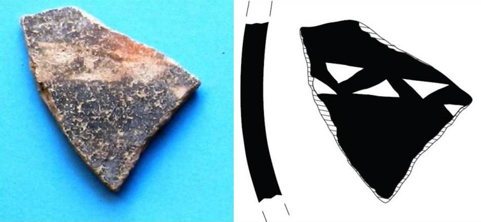 Fig. 4. Black Slip Reserved band fragment from Laona