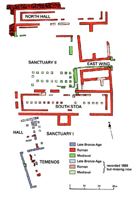 2. Plan of the Sanctuary photo from the projects website www.hist.uzh.ch