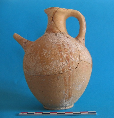 1. White Painted Wheelmade III spouted jug from Marcello