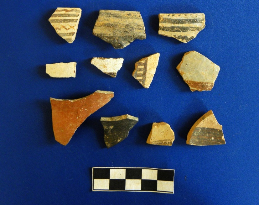 13. Late Bronze Age pottery from trench LA3 8 1