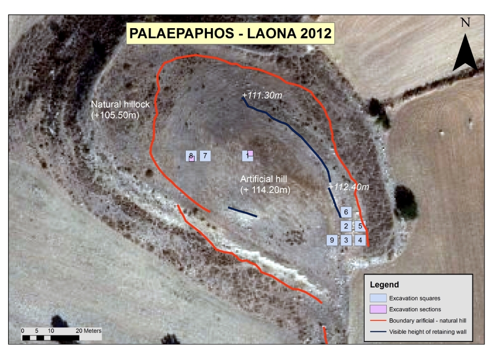 4. Trenches investigated in 2012 at Laona