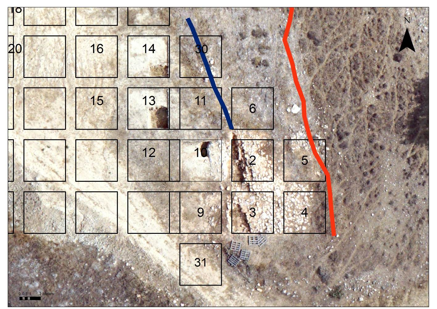 5. Plan of the southeastern side of the Laona plateau