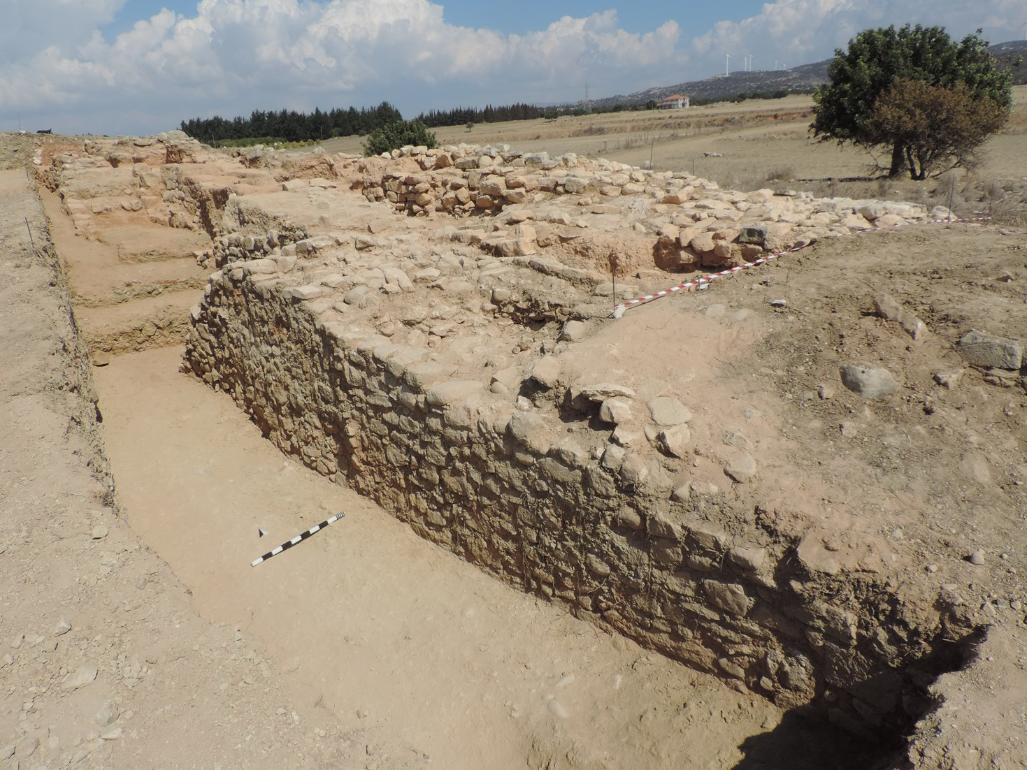 6. The tower excavated on the southeastern side of the tumulus