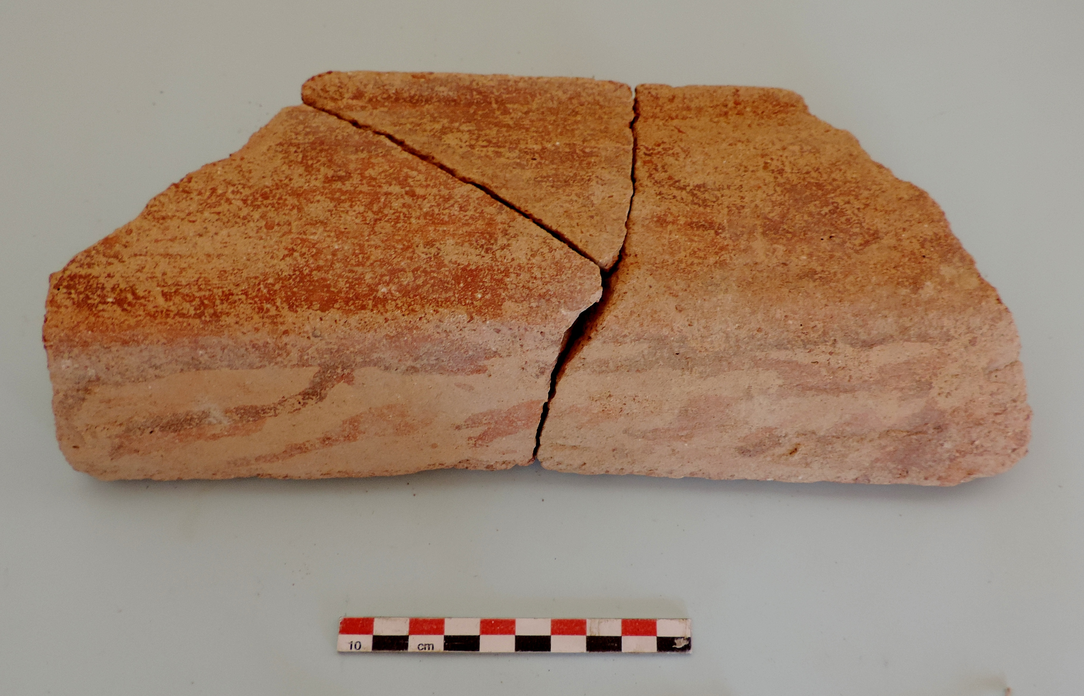 Fig. 17 - Rooftile fragments with painted decoration