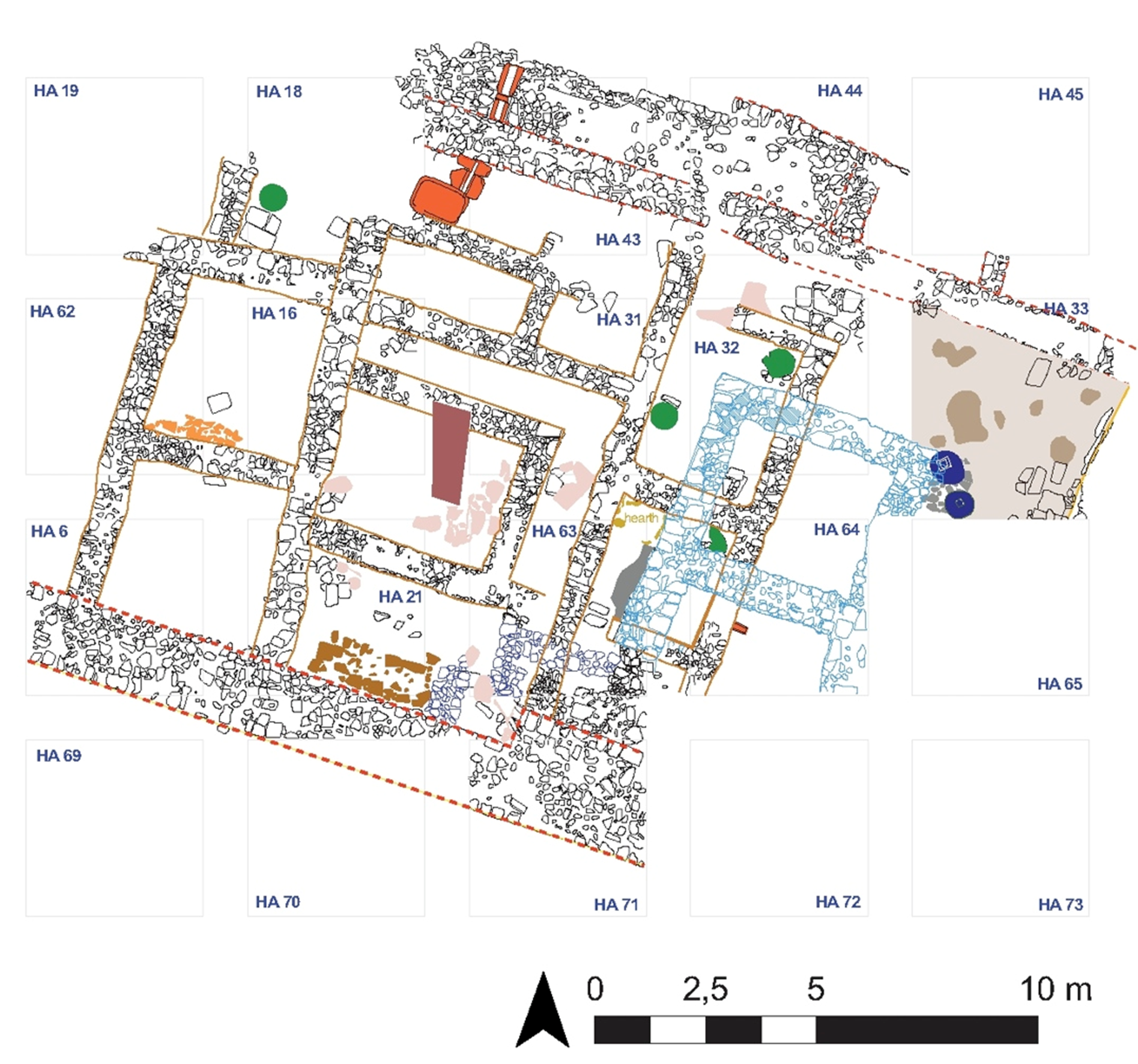 Fig. 18 - Plan of the Western complex 2015 excavations