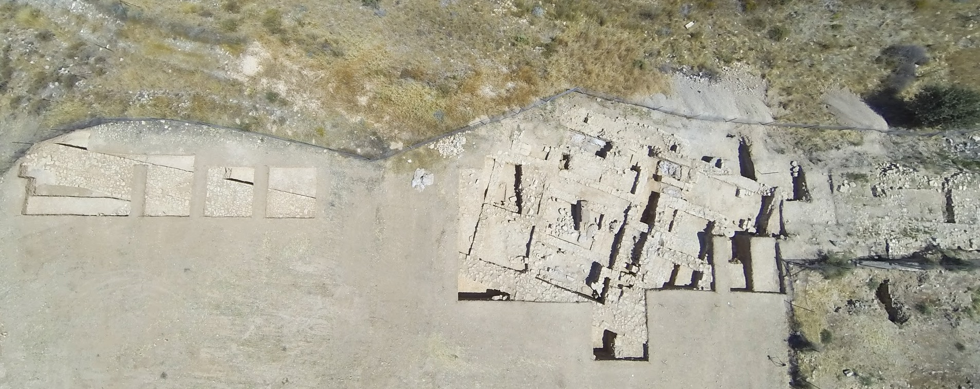 3. Aerial photo of the fortification wall and the Western complex