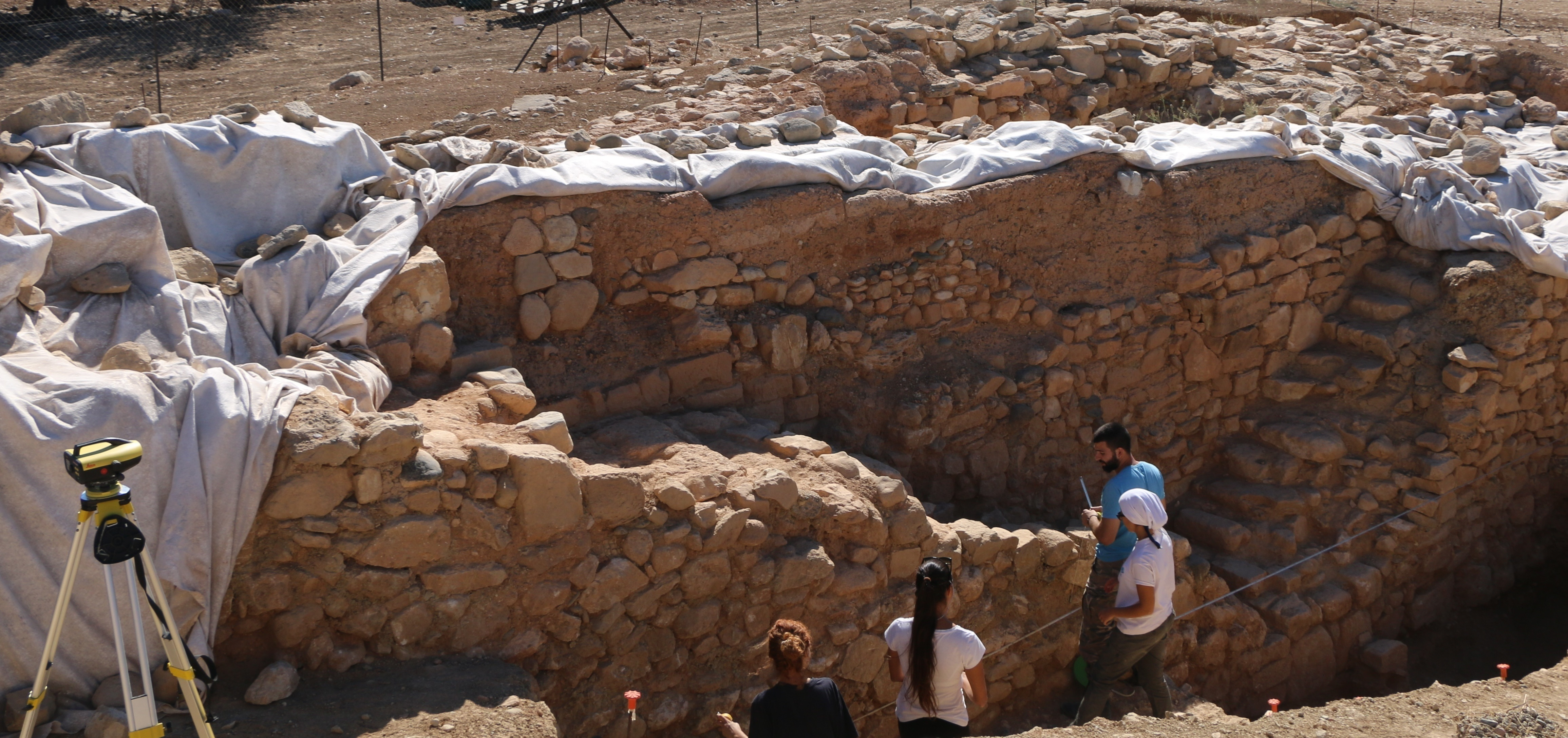 8. The staircases of the monument uncovered on the eastern side of Laona