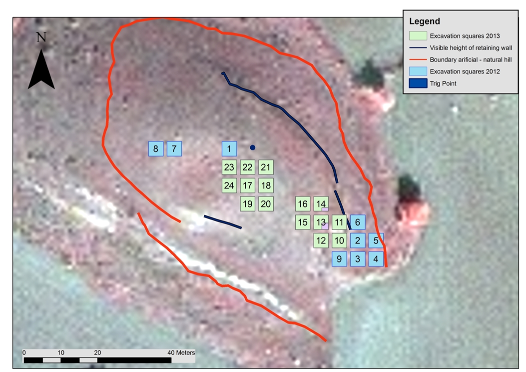 6. Plan of Laona with additional trenches excavated in 2013-A